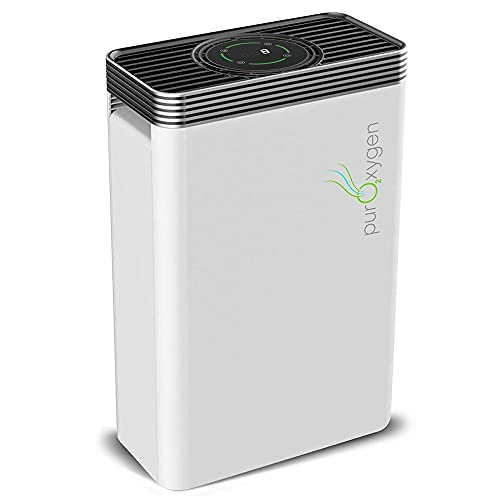 PURO²XYGEN P500 - True Hepa Air Purifier for Home with UV Light & Ionizer, 550 sq ft Large Room Air Purifier, 6-Stage Air Cleaner for Smoke, Odor, Dust, Pet Dander