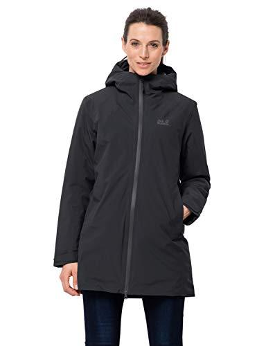 Jack Wolfskin Damen Astana Coat W Mantel, Black, XS