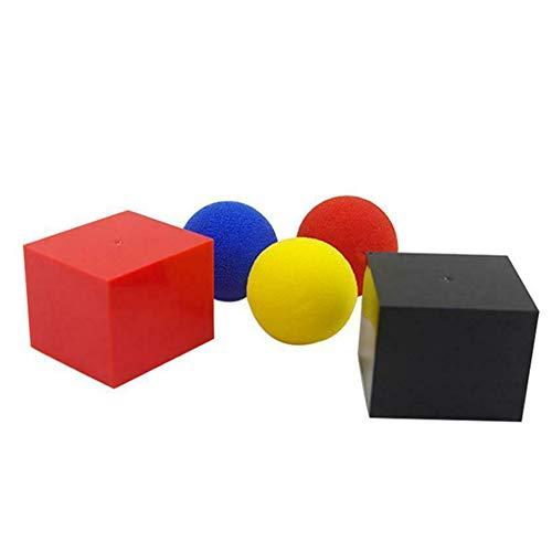 Horloges Magic Box in en uit doos met 3 Sponge Balls Magic Trick Prestatie partijen Props