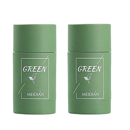 2PCS Green Tea Purifying Clay Mask, Deep Clean Pore, Face Moisturizes Oil Control, Improves Skin,for All Skin Types Men Women (GreenTea)