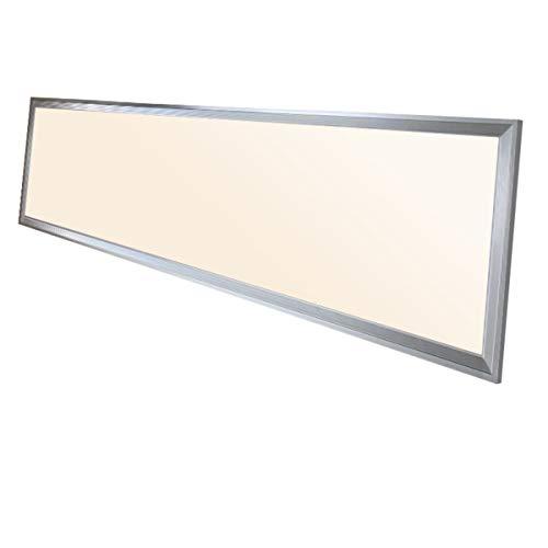 ECD Germany 1-er Pack LED Panel Deckenleuchte 42W - 120 x 30 cm - Ultraslim Dünn - SMD 3014 - Warmweiß 3000K - 220-240 V - ca. 2640 Lumen - Deckenlampe Einbauleuchte Pendelleuchte Lampe Leuchte