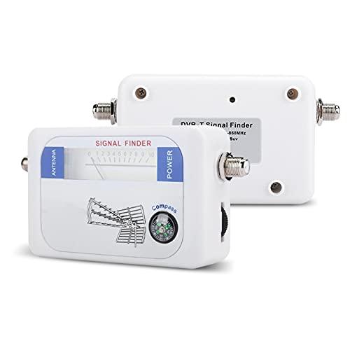 Bewinner1 Digital Satellite Finder Indicatore di Potenza del Segnale, Durable Satellite Finder con Funzione di Controllo dell attenuazione per TV TV Antenna satellitare a Distanza