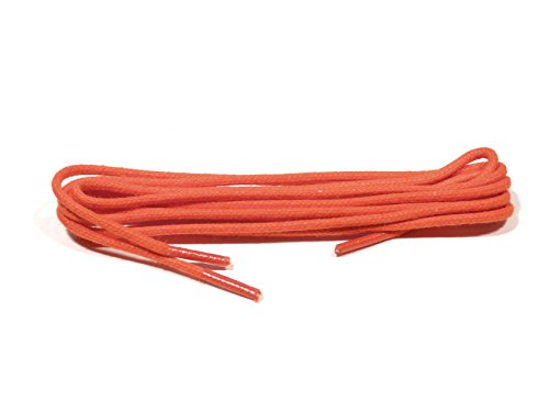 Bama 1 Paar Schnürsenkel gewachst - rund - dünn - Ø 2 mm Längen (90 cm, Orange)