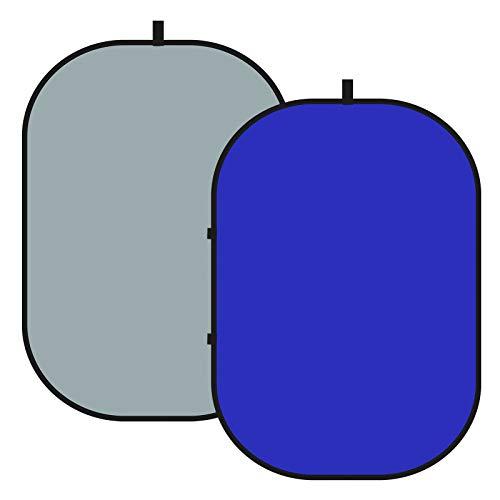 Neewer 2-en-1 Chromakey Azul/Gris Pantalla Telón Fondo Plegable con Pantalla Desplegable de...