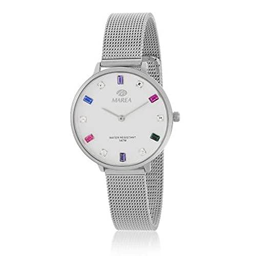 Reloj Analógico Marea B41290/1 Malla Plateado Mujer