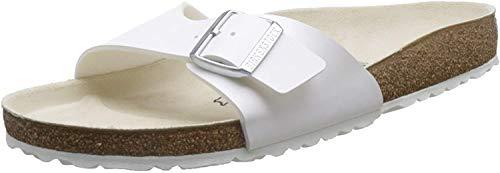 Birkenstock Unisex-Erwachsene Madrid 40733 Pantoletten, Weiß (Weiß), 39 EU
