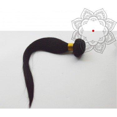 Tissage Indien Raide-Lisse 16 pouces - Cheveux humains 100% naturels - 1 paquet de 100g - Cheveux vierges indiens non traités 1B