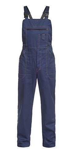 DINOZAVR Anax Herren Arbeitskleidung Baumwolle Arbeits-Latzhose - Hydronblau S