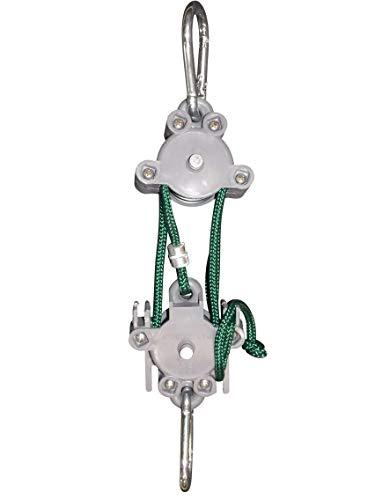 Locking Hoist 5:1 Bullseye Outdoors Locking Pulley Hoist. Locks at Hoist no Need to tie Off.