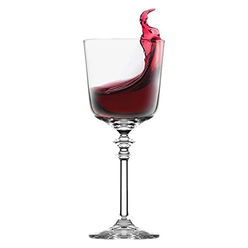 Bicchiere da Vino in Cristallo Bicchiere A Stelo Dritto Importato personalità Creativa Palazzo in Stile Europeo Bicchiere da Vino di Lusso di Fascia Alta (Color : Clear, Size : 195ML)