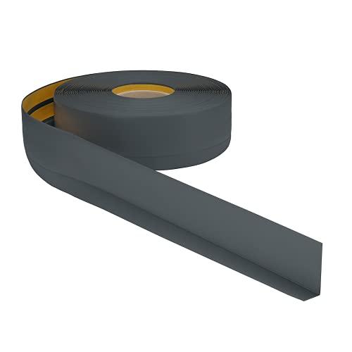 Weichsockelleiste PVC 50x20mm - 1 Meter, selbstklebend Eckleiste, flexible Bodenleiste, Premium Weich Sockelleiste (Anthrazit)
