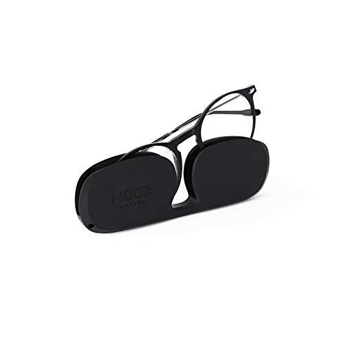 Nooz Lesebrille - Farbe Kristall Korrektur +1.00 - Runde Form - Lupenbrille für Männer und Damen - Modell Cruz Sammlung Essential