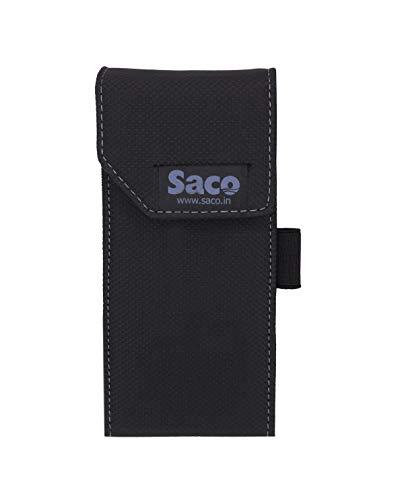 Saco Shock Proof Pouch Case Wallet Cover Protector for Mi 10000mAH Li-Polymer Power Bank 2i Model PB10IZM - Black