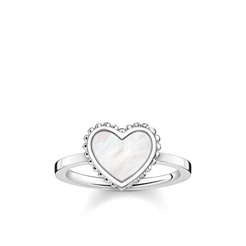 Thomas Sabo Damen-Ring Glam & Soul Herz 925 Sterling Silber Größe 48 TR2187-029-14-48