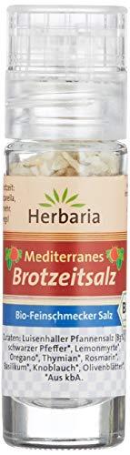 Herbaria Mediterranes Brotzeitsalz Mini-Mühle Bio (1 x 15 g)
