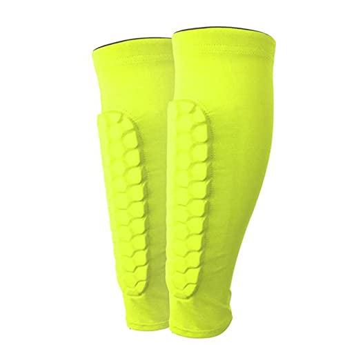 koncy Schienbeinschoner Fußball Kinder Leichte Atmungsaktive Wadenschutzausrüstung für Jungen, Bietet Umfassenden Schutz für die BeineIhrer (Color : Green, Size : M)