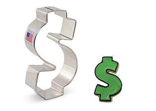 Ann Clark Cookie Cutters Dollar Sign/Money Cookie Cutter, 3.75'
