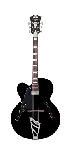D'Angelico Premier EXL-1 Hollow-Body Lefty Electric Guitar w/ Stairstep Tailpiece - Black