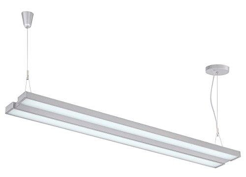 "Lite Source LS-19796SILV Duena LED Pendant, Silver, 73"" x 48"" x 7.5"""