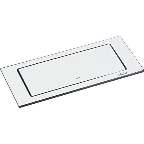 EVOline 159271005200 Backflip oppervlak, 2 stopcontacten, wit