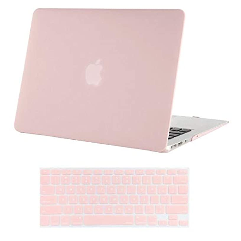 MOSISO MacBook Air 13 Inch Case (A1369 & A1466, Older Version 2010-2017 Release), Plastic Hard Shell Case & Keyboard Cover Only Compatible MacBook Air 13 Inch, Rose Quartz