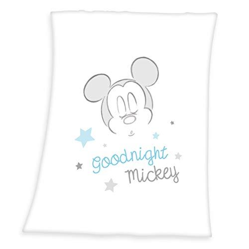 Herding Disney\'s Mickey Mouse Microfaserflausch-Decke, Polyester, weiß, 75 x 100 cm