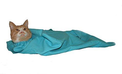 Cat-in-The-Bag XL Bleu Clair Cozy Comfort Sac de Transport pour Chat et Toilettage pour les visites de vétérinaire, l'administration de médicaments, bain, coupe des ongles et voyage en voiture