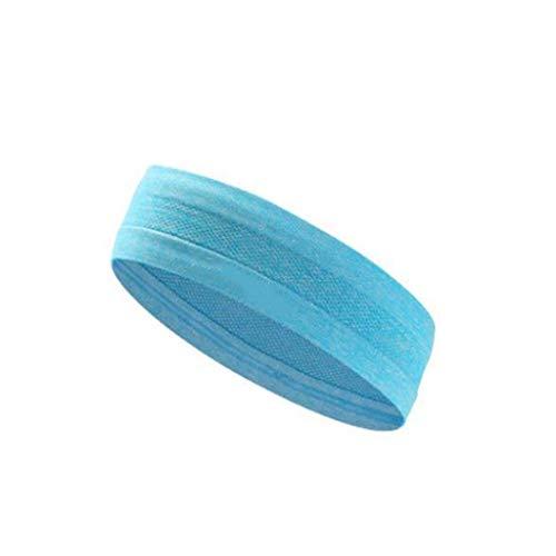 HDGAR hoofdband voor mannen, anti-transpirant van polyestervezel, vochtafvoerende riem, licht ademende haarband. Wordt gebruikt bij yoga-hardlopen.