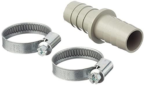 Xavax Verbindungsstück, für Wasch- und Spülmaschinen-Ablaufschläuche, Inklusive 2 Schlauchschellen, Ablaufschlauchverbinder