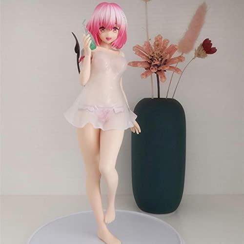 Anime Momo Balla Deviluke Rosa Pelo Corto 25Cm PVC Muñeca Móvil Juguete De Modelos Coleccionables