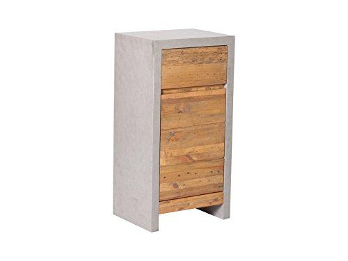 Woodkings® Bad Unterschrank Burnham Holz Pinie Natur rustikal MDF in Betonoptik grau Kommode Beton Optik Möbel Badmöbel Badezimmer Badezimmerschrank Badschrank