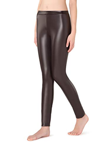 Calzedonia Damen Thermoleggings mit Ledereffekt