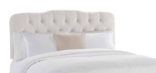 Big Sale Best Cheap Deals Skyline Furniture Surrey Queen Tufted Headboard, White Velvet