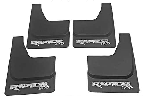 YUHUIXU 4 Piezas de Guardabarros de Coche para camioneta Ford Raptor F-150 SVT 2011 2012 2013 2014 2015 2016 2017 2018 2019, Guardabarros de Coche Accesorios de Guardabarros