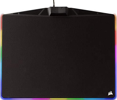 Corsair MM800C Polaris RGB Gaming Mauspad (Medium, RGB 15 Zonen Beleuchtung, Stoffoberfläche) schwarz
