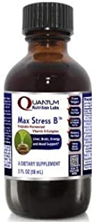 Quantum Max Stress B - Probiotic-Fermented Vitamin B Formula for Dynamic Liver, Energy, Brain and Mood Support