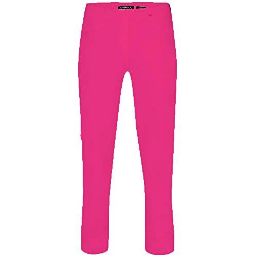 RoBella Slim Fit 7/8 Stretchhosen Schlupfhosen Damen Hosen #Bella 09 (40, Pink 431)