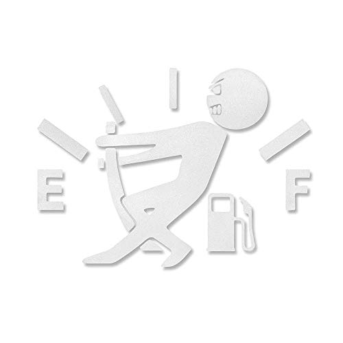 EROSPA® KFZ Auto-Aufkleber - Tanknadel - Car-Sticker (Silber)