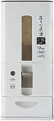 RDJSHOP Risförvaringsbehållare, lufttät risbehållare förvaringsbehållare Bpa-fri plast torr matdispenser med hjul för köksbänk eller skåp, 6 kg/12 kg kapacitet, röd/vit