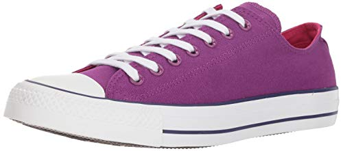 Converse UNISEX Chuck Taylor All Star 2018 Seasonal Low Top Sneaker icon Violet/Pink pop/White 5 M US
