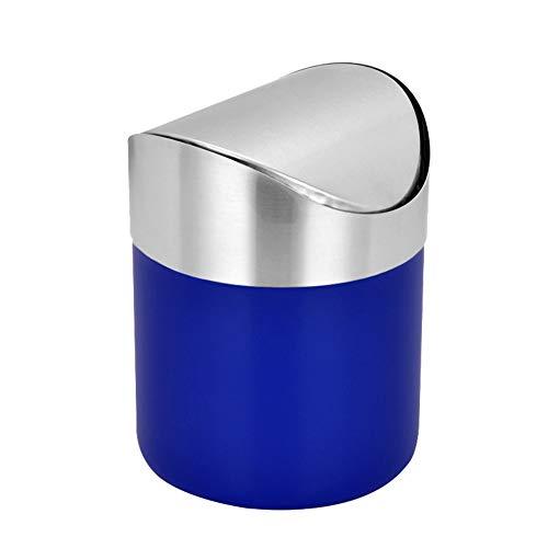 Mini papelera para escritorio con tapa, papelera de escritorio pequeña pequeña para encimera, para oficina, baño, cocina, cesta de basura de 1,5 l, 0,40 galones