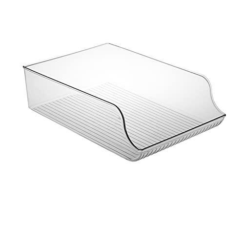Tuozhan Caja de almacenamiento Rrefrigerator tipo cajón, plástico transparente, apilable, gabinete de despensa de cocina para el hogar, cocina, huevo, congelación de alimentos