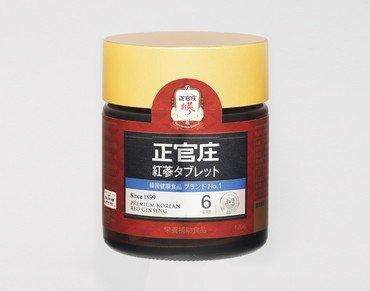 正官庄高麗人参紅参タブレット(高麗人参サプリメント)6年根100%紅蔘粉末(120粒入り)