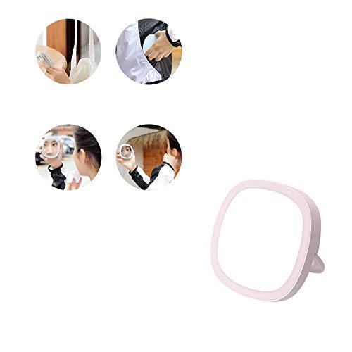 YQQWN LED Make-up Spiegel, Slimme Handheld Nachtlampje Make-up Spiegel, met Draagbare Schoonheidsvulling Licht, USB Opladen Mini Nachtlampspiegel