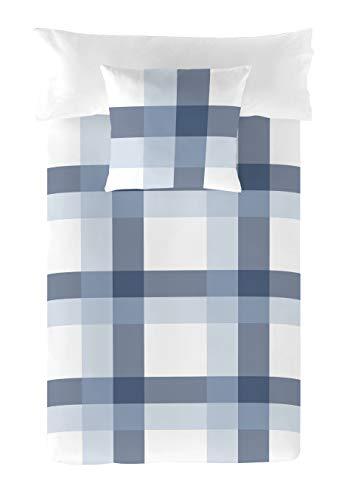 Popcorn Funda nórdica Escocés Azul Cama 105