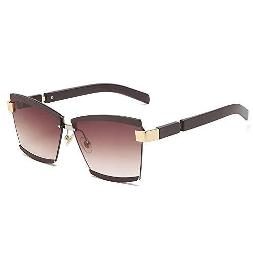 ZQSM Gafas de Sol Cuadradas Retro Sin Marco Hombres Mujeres Gafas de Sol Protección UV400 Gafas de Conducción-UNA