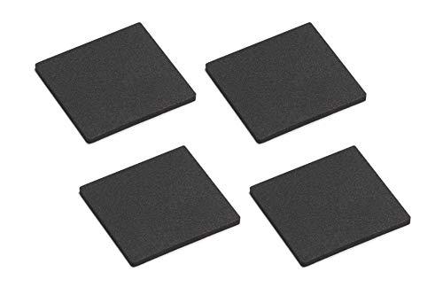 Metafranc Anti-Rutsch-Pads 40 x 40 mm - selbstklebend - schwarz - 4 Stück - Stoßdämpfend - Rutschhemmend für Möbel & Gegenstände / EVA-Pads im Set / Gummi-Pads / Anti-Rutsch-Puffer / 646056