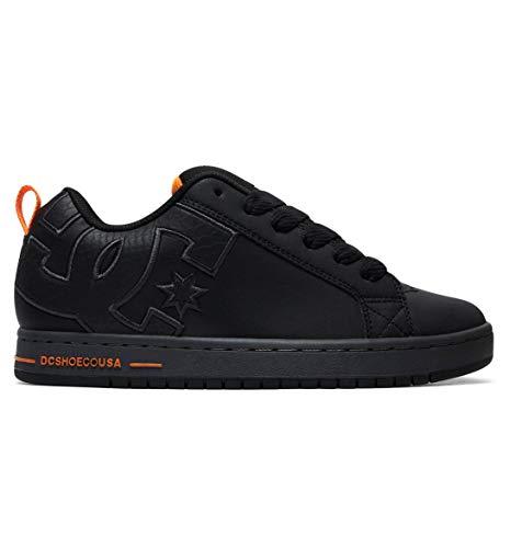 DC Men's Court Graffik SE Skate Shoe, black/battleship/black, 9.5 D M US