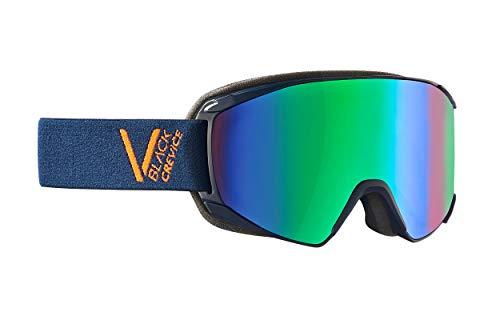 Black Crevice Skibril, schuifmechanisme, dubbele schijf, anti-fog coating, UV400-bescherming