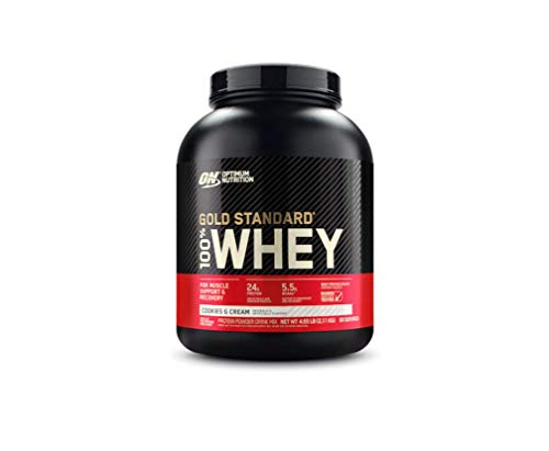 Optimum Nutrition Gold Standard 100% Whey Protein Powder, Cookies and Cream, 5 Pound (Packaging May...